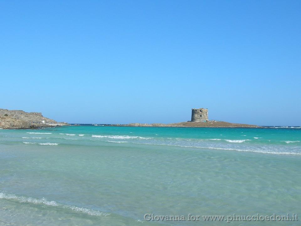 Sardegna giovanna 02 mare di fronte alla spiaggia della pelosa - Alla colorazione della spiaggia ...